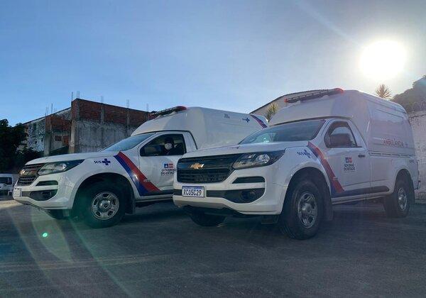 Governo do estado entrega ambulancias