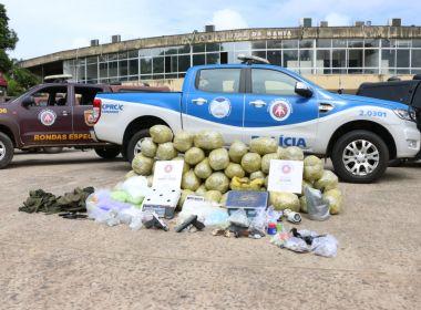 PM prende seis pessoas e apreende 100 kg de maconha, no Arenoso,