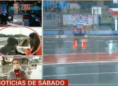 Repórter da CNN Brasil é assaltada durante apariçao